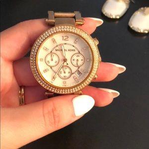 Michael Kors Rose Gold Watch big face